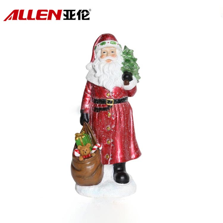 Tabletop Decor Gift Christmas Standing Resin Santa