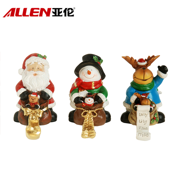 Christmas Resin Santa/snowman/rendeer Stocking Holder
