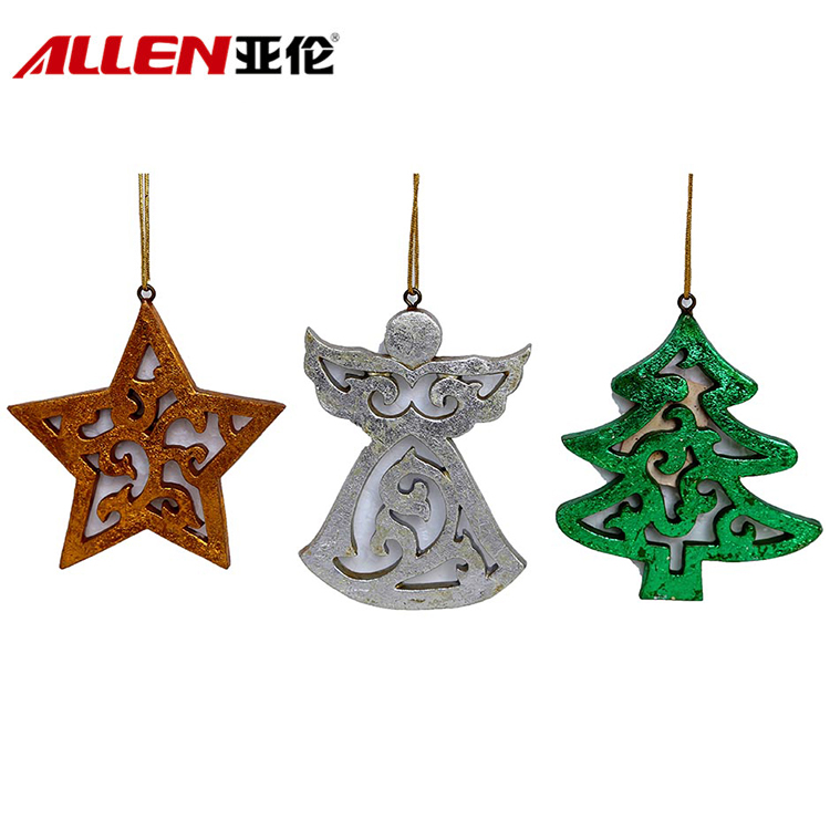 Polyresin Christmas Tree Decoration Hanging Ornaments