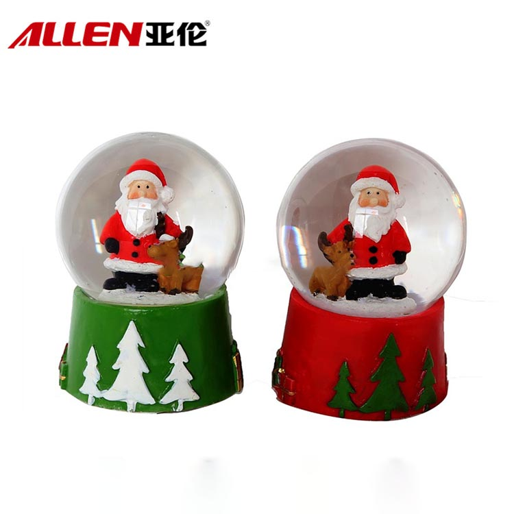 Christmas Water Globe Santa Figurine Design