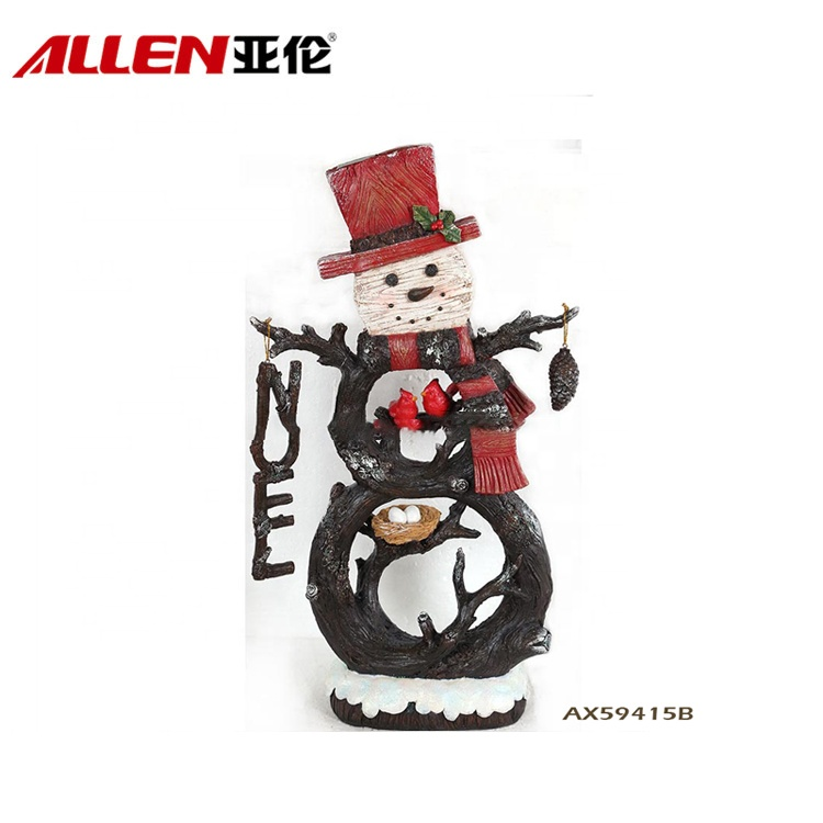 Christmas Decorations Handmade Resin Christmas Snowman