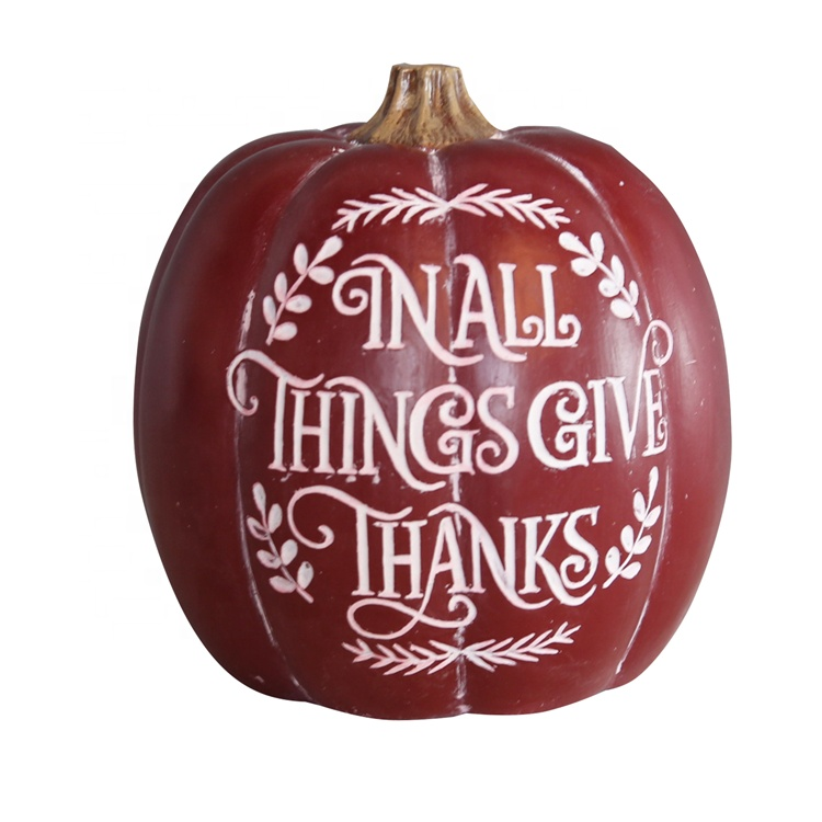 Thanksgiving Dekorationer Resin Pumpkin prydnad