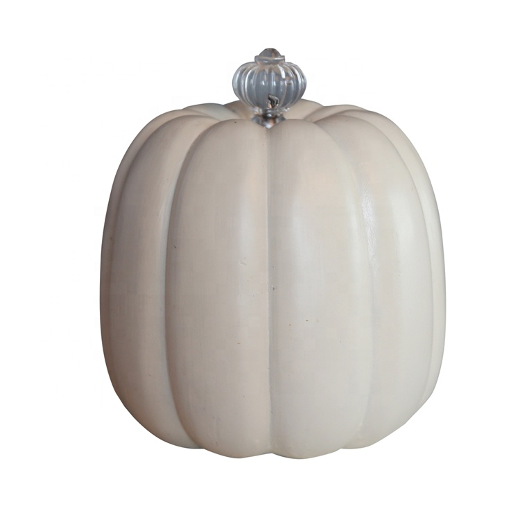 Resin Thanksgiving Pumpkin Sculpture With Handle Decor