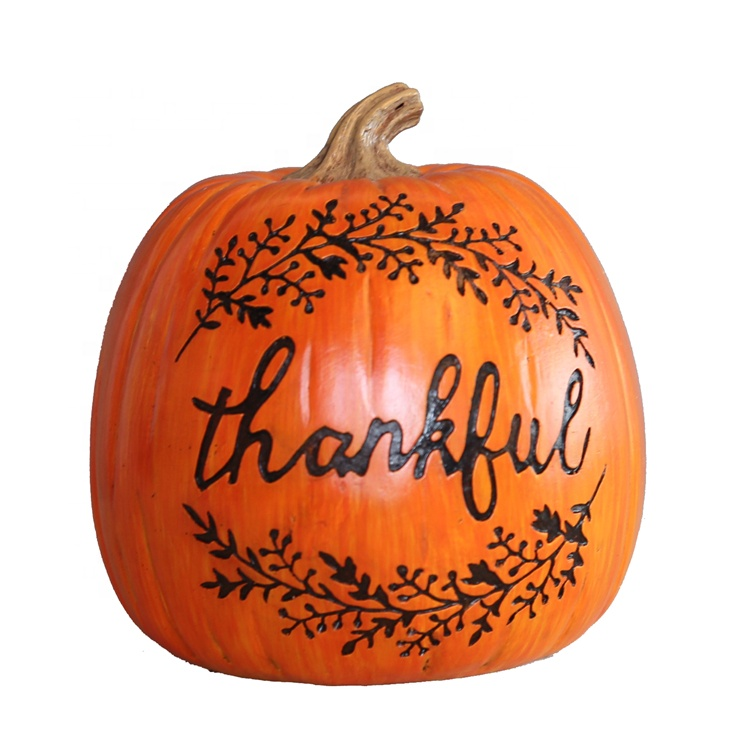 Resin Thanksgiving Pumpkin With Letter Decor