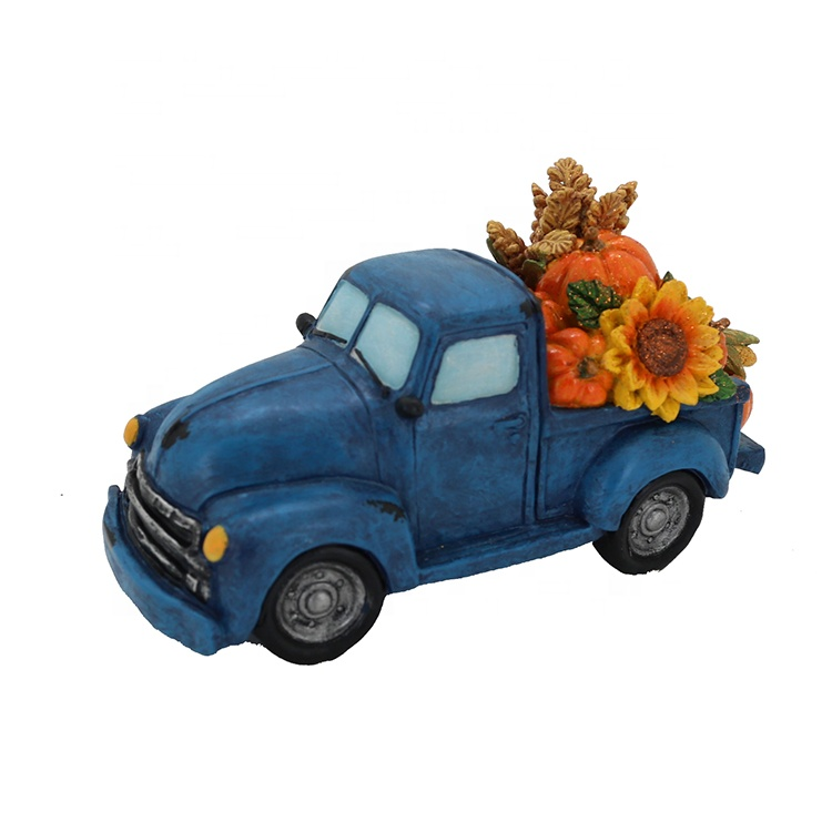 Thanksgiving Decorations Resin Carrying Vegetable Truck Statue