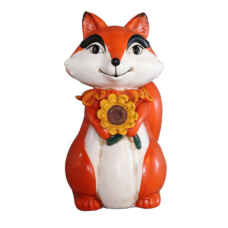 Tacksägelse Resin Animal Sculpture Standing Fox Statue