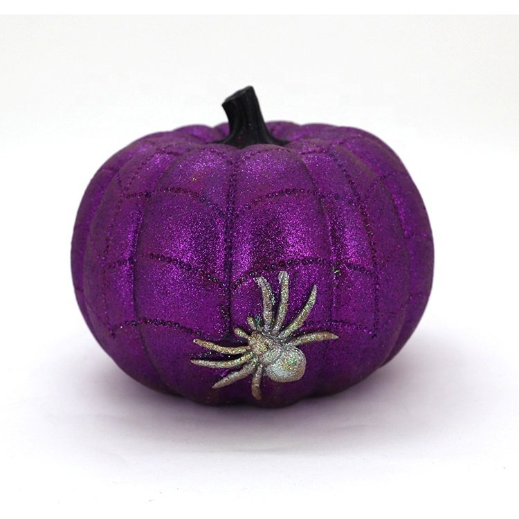 Holiday Purple Halloween Pumpkin Decor
