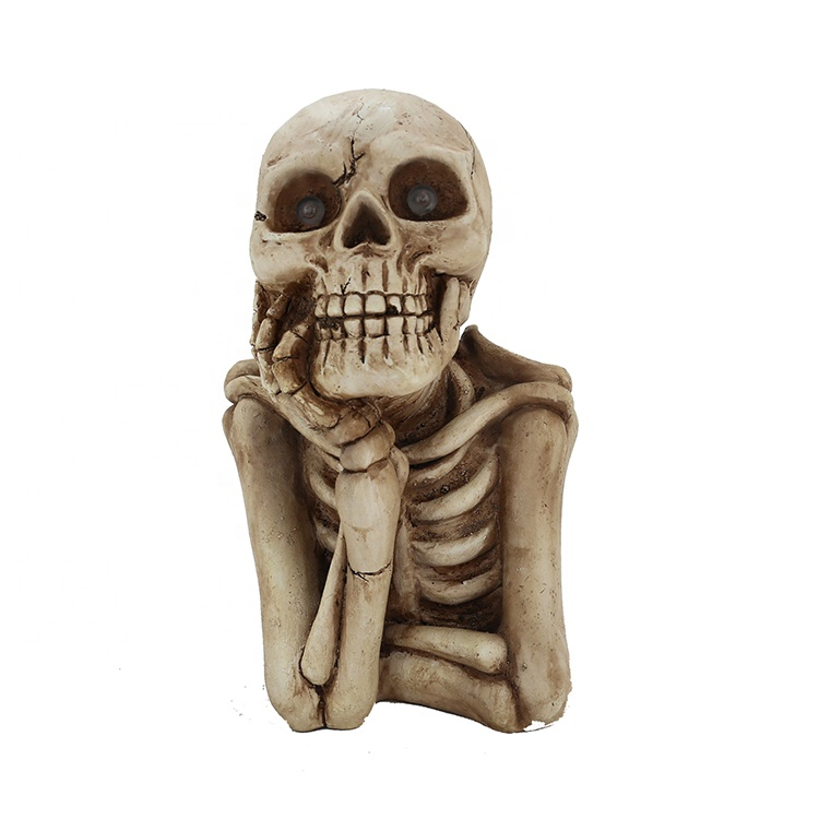 Resin Halloween Resin Skeleton With Lighting