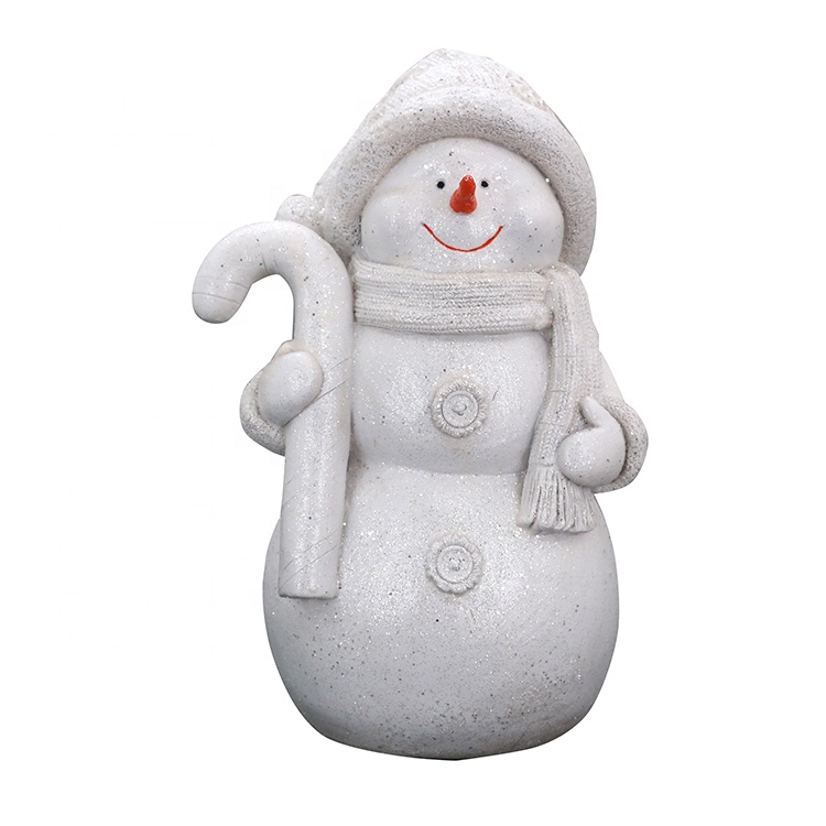 White Resin Christmas Snowman Decorations