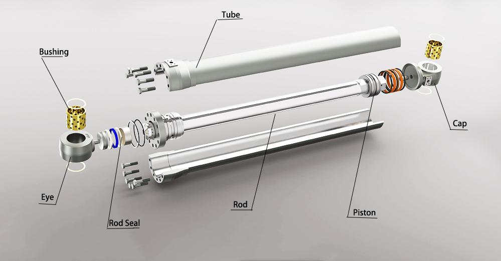 China Hydraulic cylinder cap and eye parts