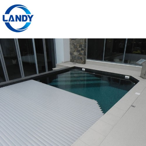 Under PVC Coping Automatic Types Of Indoor Swimming Pool Covers