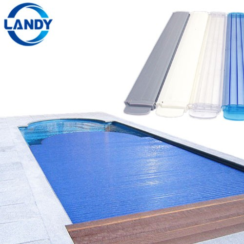 Outdoor Transparent Plastic Heat Keeping Manual Swimming Pool Covers Roller