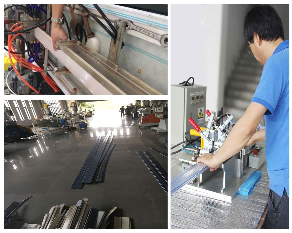 welding system and pool cover production corner