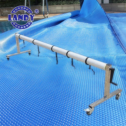 pool cover with reel,commercial ground swimming pool cover reel set