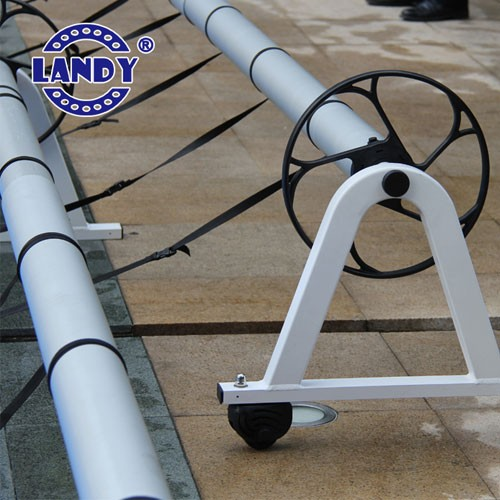 Poolabdeckungsrolle Detailbilder, Solar Poolabdeckungsrolle inground