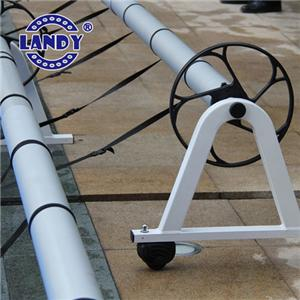 pool cover reel attachment detail images,solar pool cover reel inground