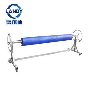Carretel de piscina de alta qualidade em aço inoxidável durável Rolete de cobertura solar móvel para piscina