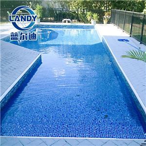 Forros de piscina em mosaico oval à prova d'água e antiderrapante