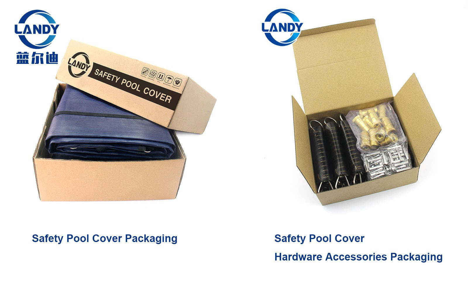 Safety pool cover package