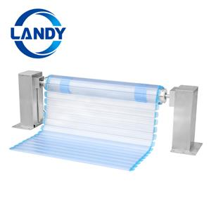 Sistemas ocultos de rolos de cobertura automática de piscina para piscinas de formato especial