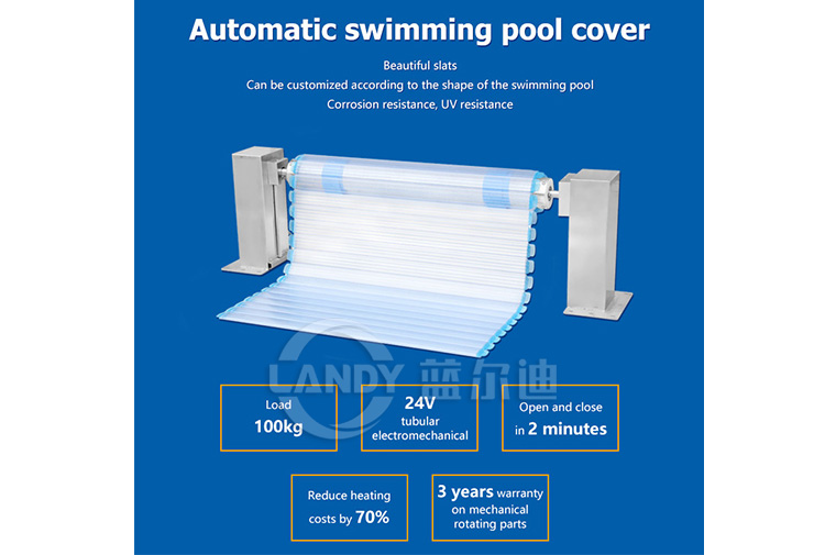 automatic solar pool cover reel