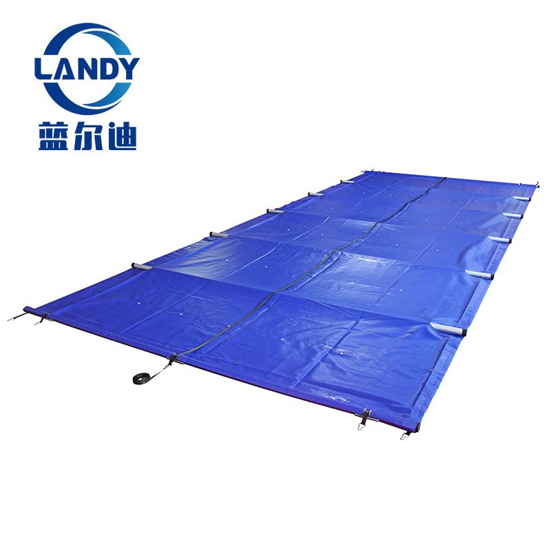 La migliore copertura per piscina pieghevole blu solida per piscine di forma speciale