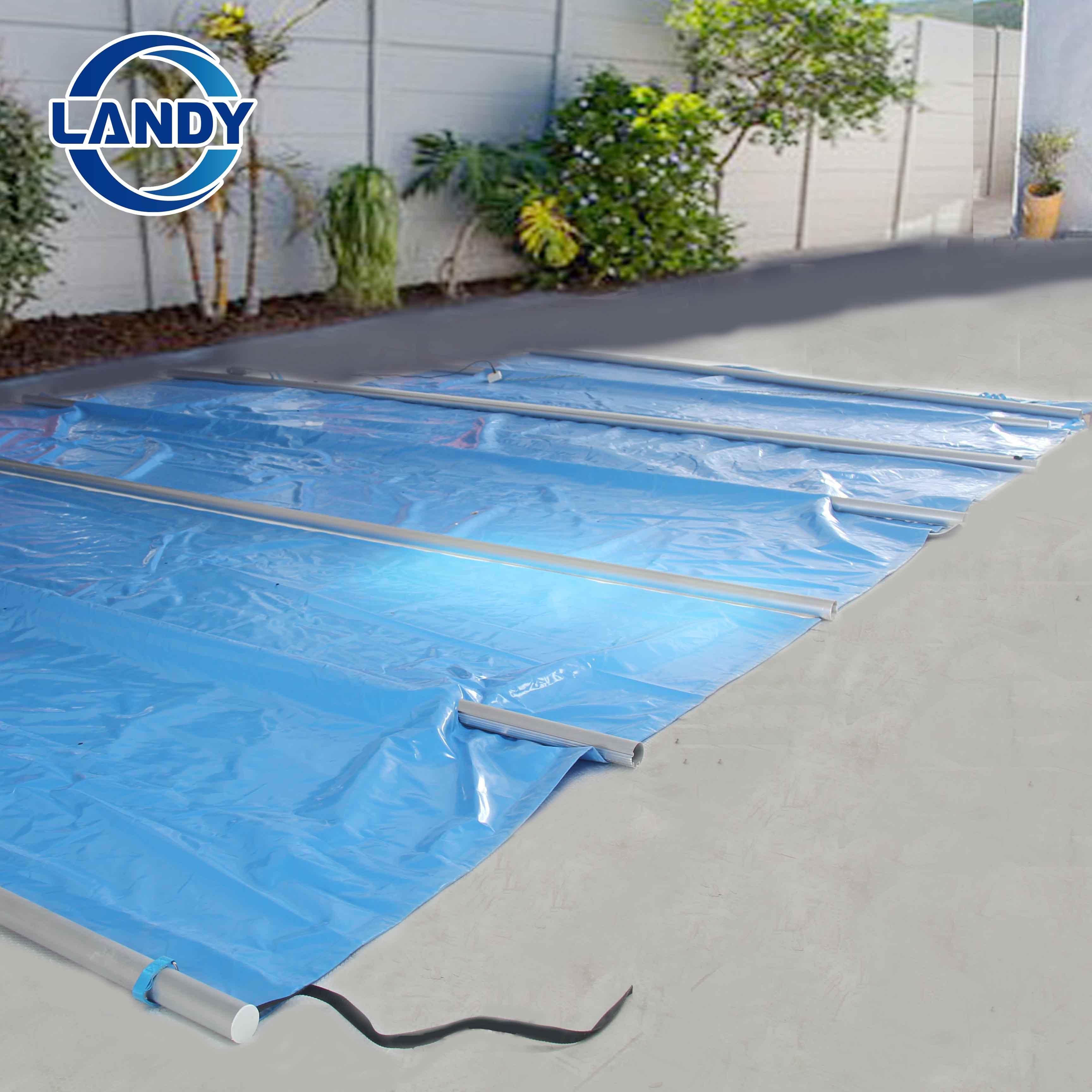 Coperture per piscina a scomparsa solide personalizzate per l'inverno
