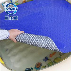 Above ground floating vinyl swimming pool solar cover