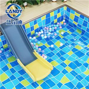 Custom Blue Mosaic Vinyl Pool Liners For Inground Pools
