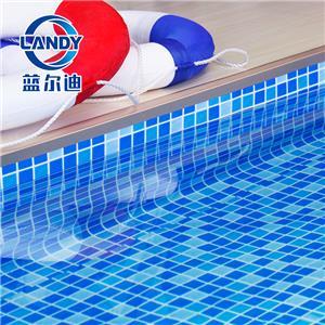 Fodere per piscine in vinile blu personalizzate in PVC di alta qualità per piscine fuori terra