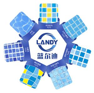 Campioni di colore per rivestimento piscina in PVC Landy