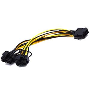 6Pin Male To 8Pin Male PCIE Power Cable For GPU Video Card