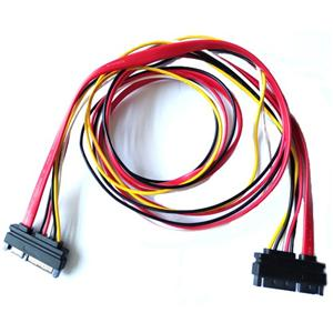 22pin (7+15) SATA Male to Male SATA and Power Combo Extension Cable