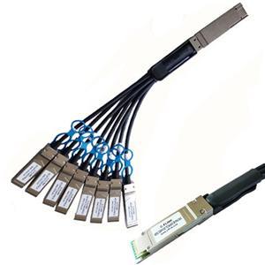400G QSFP DD a 8x50G SFP56 Twinax Copper DAC Cable
