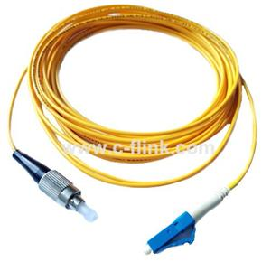 LC to FC Single Mode Simplex Fiber Optic Patch Cord