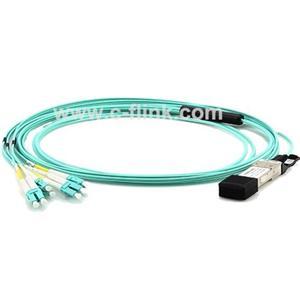 40G QSFP Plus To 4 Duplex LC/SC/ST/FC Breakout AOC