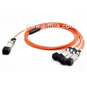 40G QSFP زائد ل4xSFP بالإضافة إلى أحدث الكابلات الضوئية