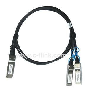2xSFP28 DACケーブルに100G QSFP28