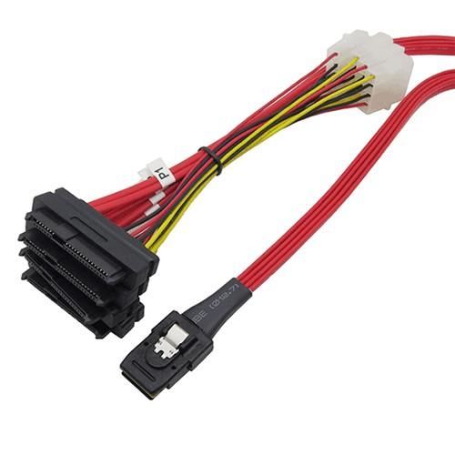 36P SFF-8087 4i to 4*SFF-8482 SAS29 SAS Cable Manufacturers, 36P SFF-8087 4i to 4*SFF-8482 SAS29 SAS Cable Factory, Supply 36P SFF-8087 4i to 4*SFF-8482 SAS29 SAS Cable
