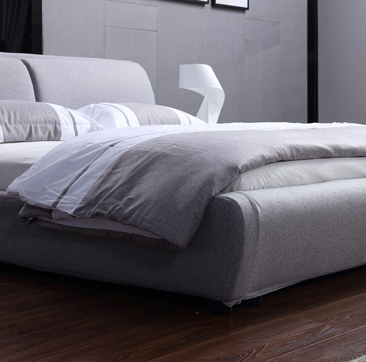 king size fabric bed