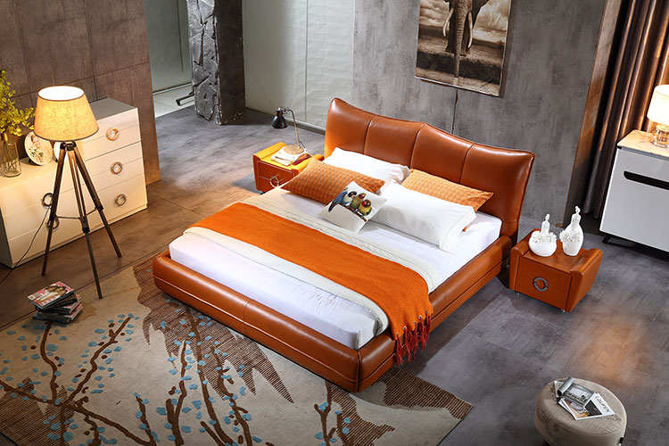luxury leather bed