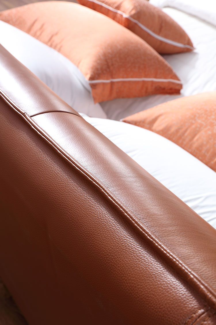 brown color soft bed