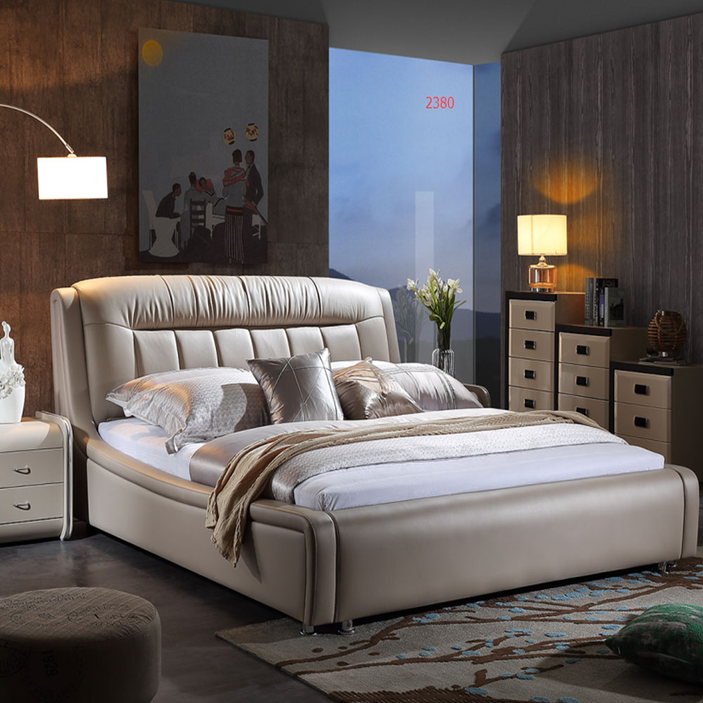 2380 Bedroom Furniture Modern Beds Leather King Size Bed
