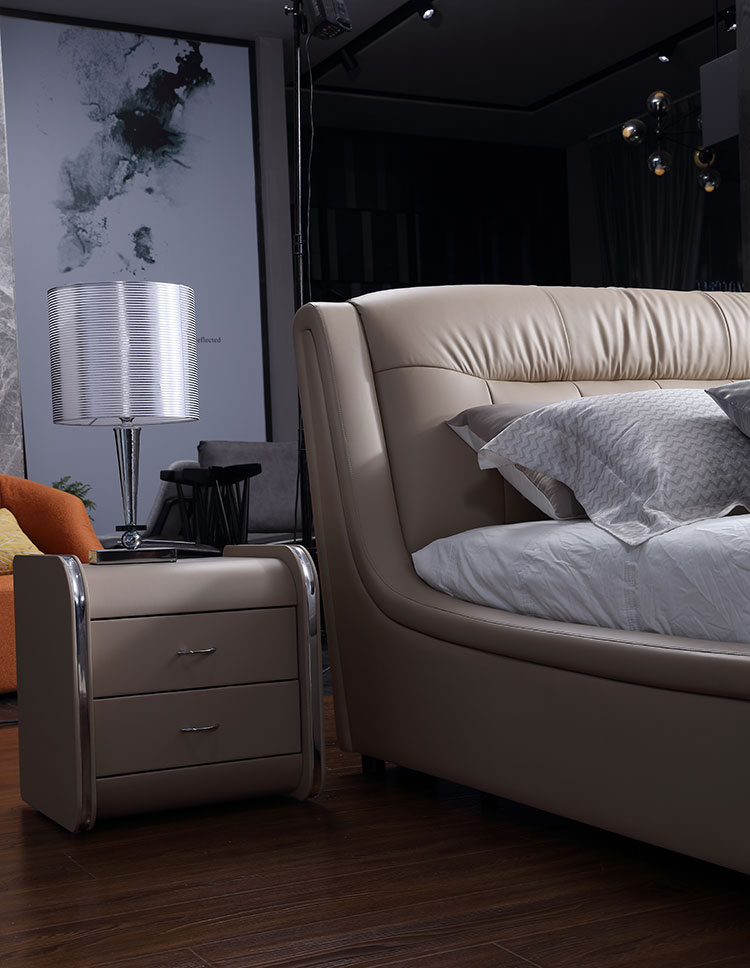 bedroom furniture leather bed