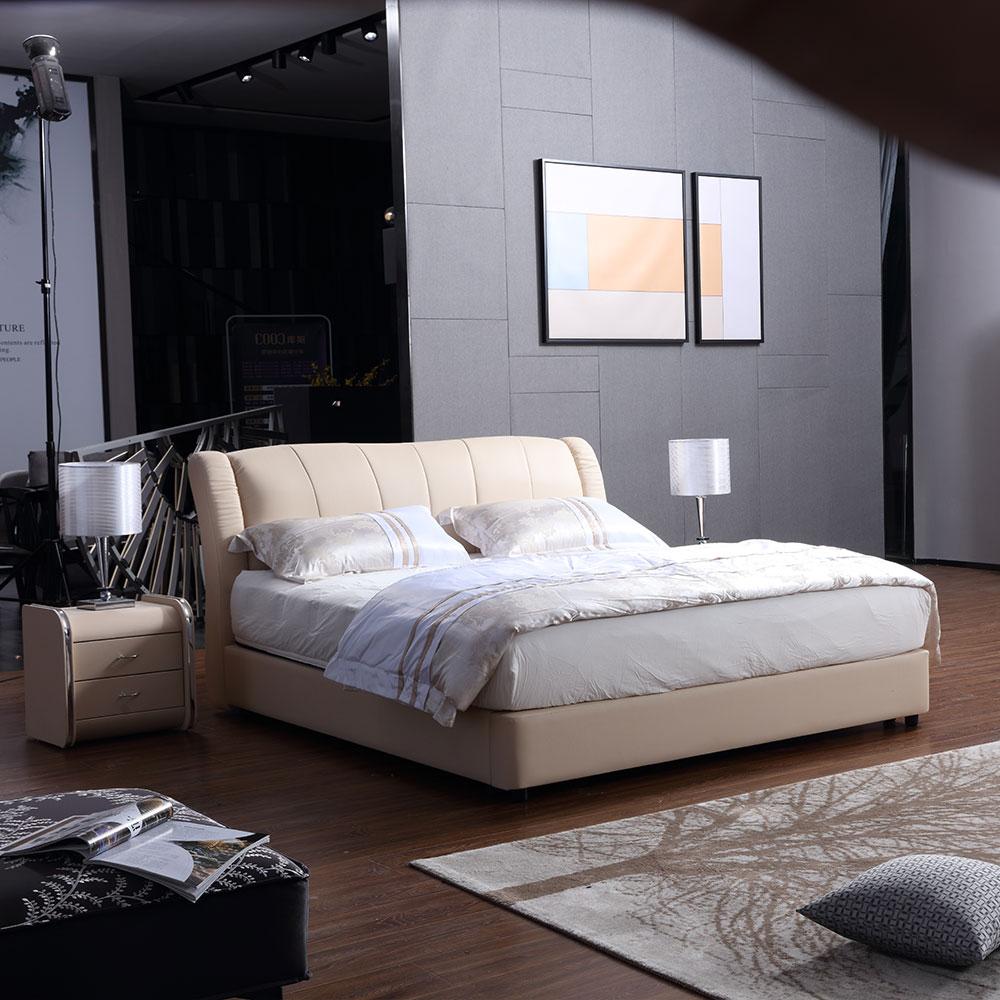 2221 गर्म बिक्री के बेडरूम फर्नीचर शीतल बिस्तर राजा आकार चमड़ा बिस्तर