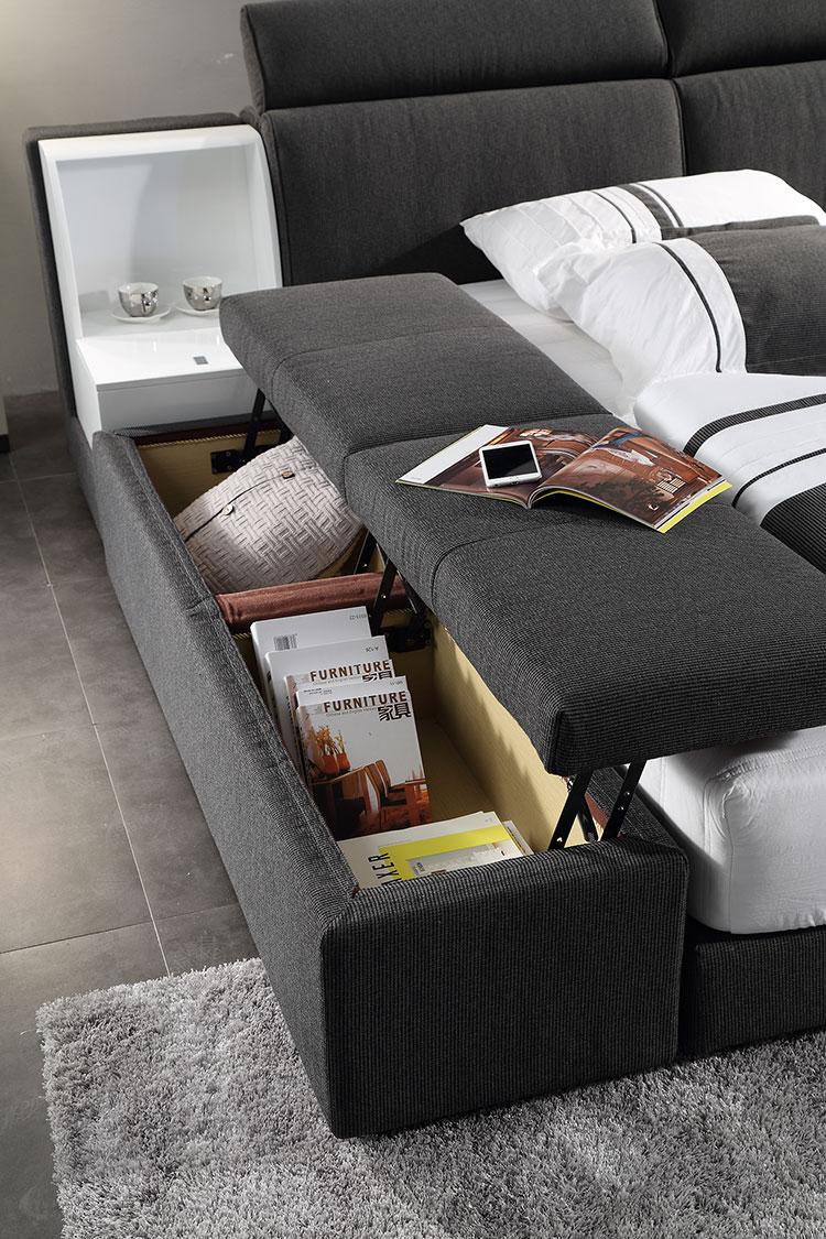 bedroom fabric bed