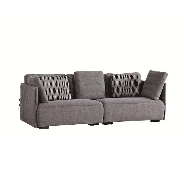 6025 ใหม่ Foshan แฟนซีสีเทาโมเดิร์นออกแบบที่เรียบง่ายวัสดุผ้าห้องนั่งเล่นชุดโซฟา