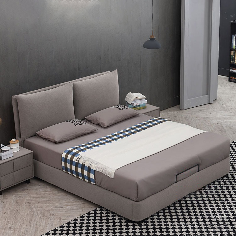 806 Home Furniture Bedroom Modern Luxury Beds Fabric Storage Queen Bed