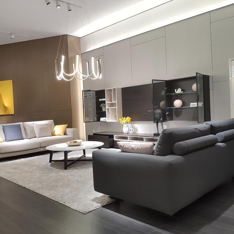 9609 Rekabentuk Baru Sofa Moden Tetap Ruang Tamu Sofa Sofa Leatheraire Sofa
