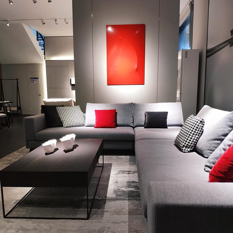 9603 Minimalis Gaya Sofa Grey Living Room Sofa Set Set Sofa Mewah